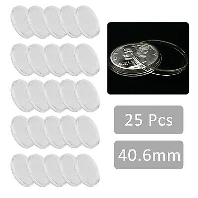 25 Silver Dollar Direct Fit AirTite Coin Holders with #11 lg Capsule Storage Box