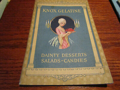 Vtg 1927 KNOX GELATINE Cookbook/ RECIPES Desserts Salads Candies