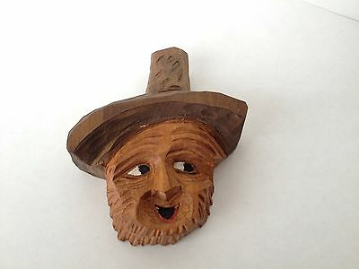 Wooden Art Rustic Carving - Vintage
