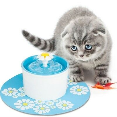 2Pcs Flower Style Filter Fountain Pet For Automatic Cat Dog Water Drinking COOL