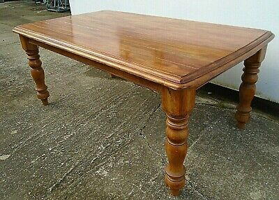 "6' x 3' 6"" Solid Wood Farmhouse Kitchen Dining Table Fruitwood Pine Country"