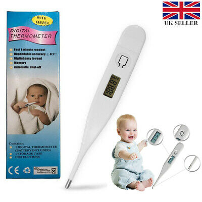 Oral LCD Digital Thermometer For Baby Kids &Adult Health Medical Thermometers UK
