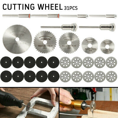 31PCS Mini Diamond Cutting Discs Wheel Tool Set + Drill Bit For Rotary Tool UK*