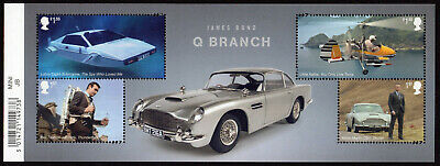 2020 JAMES BOND Q BRANCH Mint Stamps Mini Sheet - WITH BARCODE MARGIN