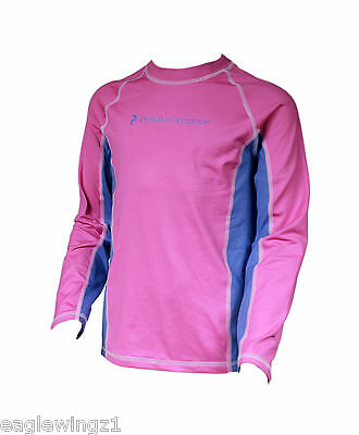 NEW Peak Performance Kids Junior Pink Base Layer LS Top Sports Ski RRP £35
