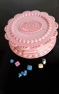 Vintage Polly Pocket  birthday party surprise cake compact