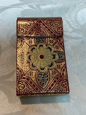 Vintage Hinged Cigarette Case Made In Italy