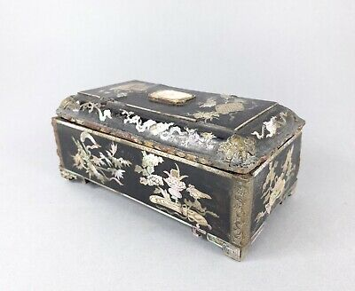 Unusual Oriental 18Th/19Thc Box Inlaid With Shell