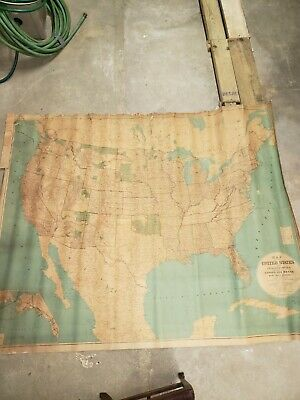 1885 school house map of USA
