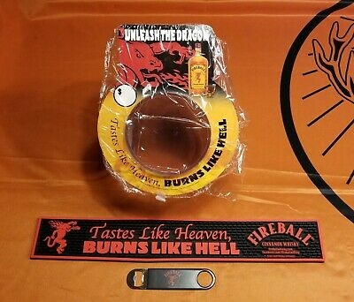 Fireball Whisky Limited Edition Bar Mat, Wrench, & Fishbowl! - Brand NEW! - Nice