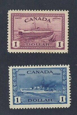 2x Canada MH $1.00 Stamps #262-Destroyer #273-Train Ferry VF Cat.Value = $155.00