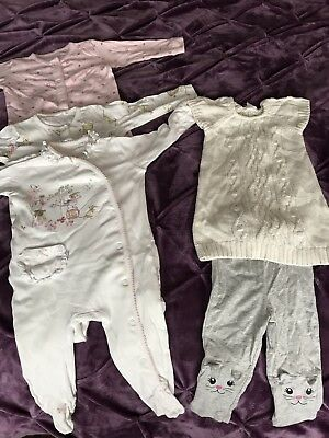 Baby Girls Clothes Sleepsuit Leggins Tunic Bundle, 6-9 Months Next And H&M GIRL