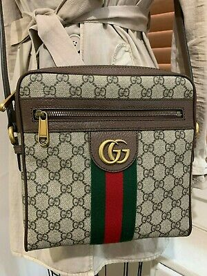 Auth Gucci Gg Ophidia Messenger Bag