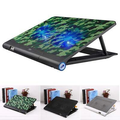 2 Quiet Fans USB Powered Adjustable Mounts Stand Laptop Cooling Pad with ETT
