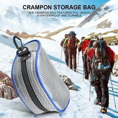 Outdoor Crampon Storage Bag Organizers Pouch Zipper for Mountaineering Climbing