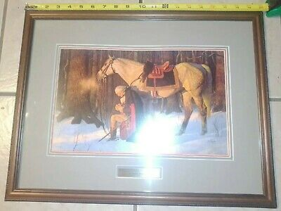 Arnold Friberg George Washington THE PRAYER AT VALLEY FORGE Framed litho Print