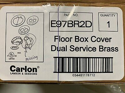 Carlon E97BR2D Floor Box Cover Dual Service Brass- missing one piece