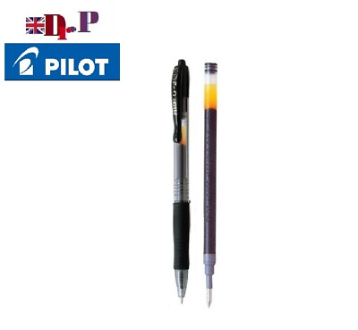 Pilot G 210 Retractable Pen Gel 1.0mm Broad Tip Rollerball Ball Point RED 5