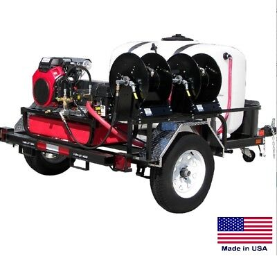PRESSURE WASHER Commercial - Trailer Mounted - 8 GPM  3500 PSI - 24 Hp Honda