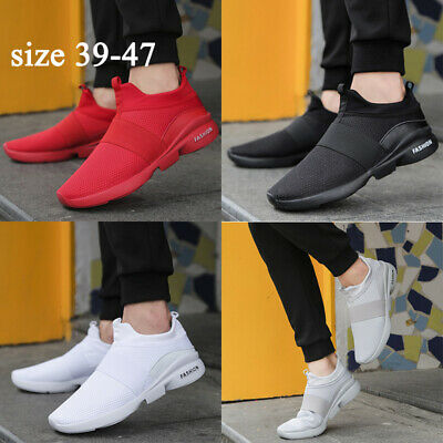 Mens Shoes Slip On Memory Foam Casual Walking Running Gym Sport Trainers Size UK
