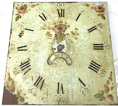 "Antique Longcase/Grandfather Clock Dial By Jones  Llanfyllin12"" By 12"" 30 Hour"