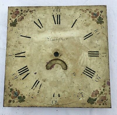 "Antique Longcase Grandfather Clock Dial By Jones  Llanfyllin 12"" By 12"" 30 Hour"