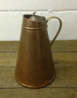 WAS Benson insulated copper jug, not marked arts and crafts