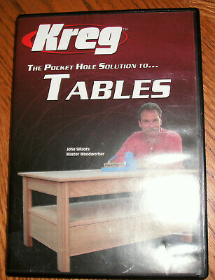 Kreg Pocket Hole Joinery solution to Building Tables DVD, mint, free ship