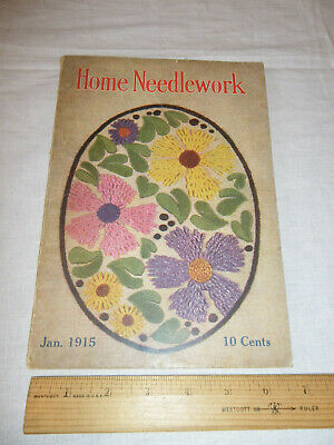 Vintage Home Needlework Magazine January 1915 Patterns Old VTG Booklet Crochet