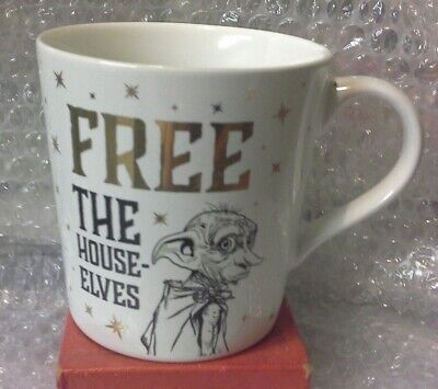Official Harry Potter Dobby Free The House Elves Cup Mug 325ml BNIB - FREE P+P