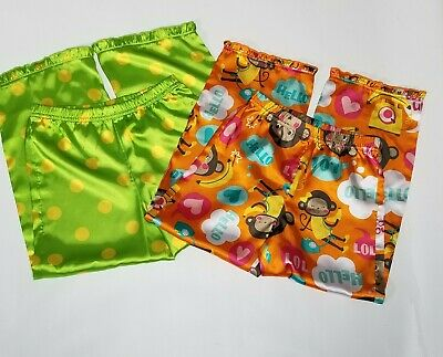 Carter's Pajama Pants - 2 Pair - Whimsical Monkeys Pop Art - Ruffled Hem Girls 6