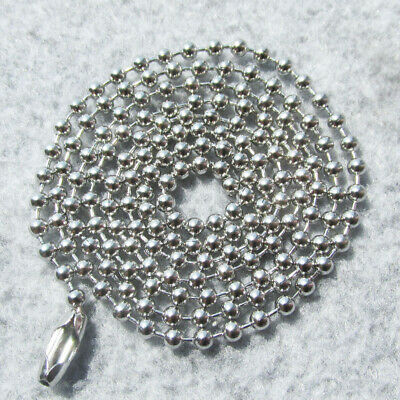 """100pcs/lot 24"""" Stainless Steel Bead Chains Suitable for Army Dog Tags Pendants"""