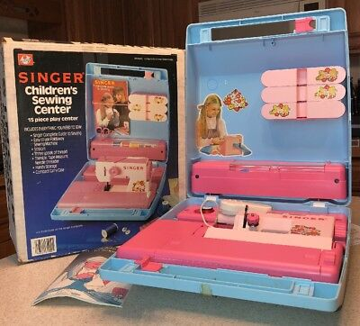 Ohio Art Singer Children's Sewing Center Toy Machine in Box 1984 WORKS! Made USA