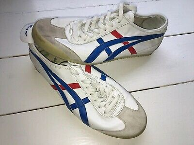 Mens Boys Onitsuka Tiger GSM White Leather Retro Casual Trainers Shoes Size UK