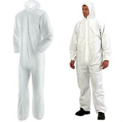 Harris Disposable Coveralls White Hood Boiler suit Painters Protective sizeLarge