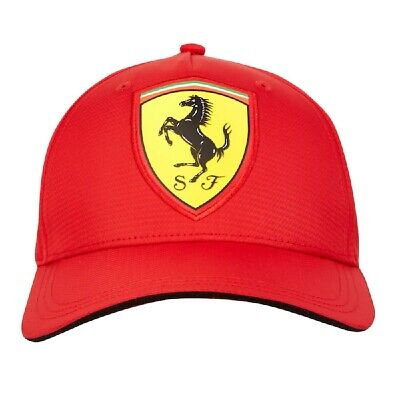 Cap Formula One 1 Scuderia Ferrari Scudetto F1 Team Red NEW! Carbon Curved Peak