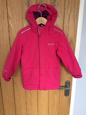 Girls Regatta Pink Hydrafort Waterproof Coat. 3-4 Years