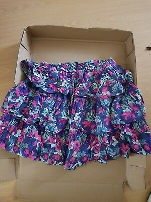 Girls Matalan Multi coloured Layered Skirt ages 8-9 Years