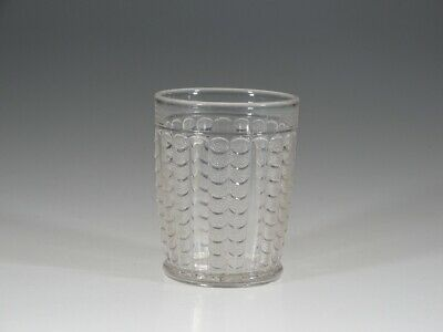 Vintage EAPG Bryce Brothers Crystal Fishscale or Coral Water Tumbler c.1870