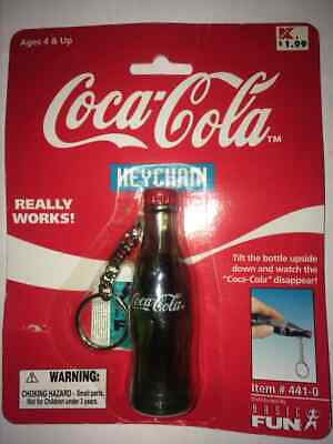 Vintage Coca Cola Bottle Collectible Keychain 1999 Really Works! #441-0