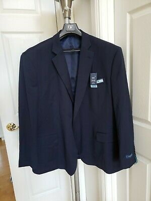 Men's Stafford Suit Classic Fit Jacket Big & Tall Navy Sz 54R . New with Tag