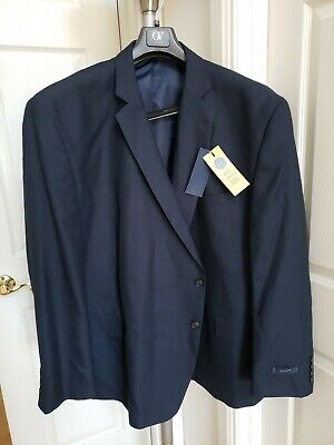 Men's Stafford Suit Classic Fit Jacket Big & Tall Blue Sz 60R . New with Tag