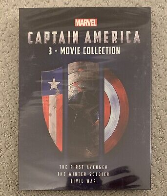 Marvel's: Captain America - 3-Movie Collection (DVD / Brand New) Free Ship