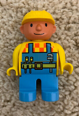 "LEGO DUPLO BOB the BUILDER 2.5/"" FIGURE Orange Shirt Yellow Hat Excellent Rare!"