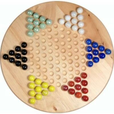 """Wood Expressions Boardgame Chinese Checkers (11.5"""" Board) Box SW"""