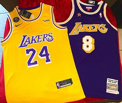 New Kobe Bryant #8 Throwback Jersey Los Angeles Lakers Hardwood Classics Purple
