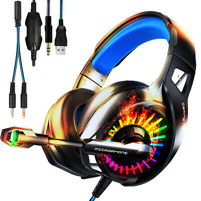 For PS4 Xbox One Google Stadia PC Stereo 3.5mm Wired Gaming Headset Headphone