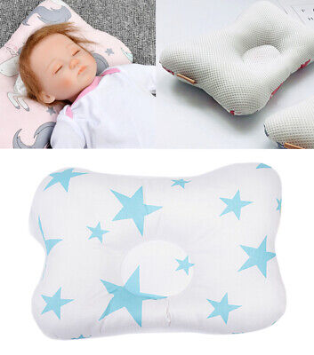 Cotton Newborn Baby Infant Pillow Positioner Prevent Flat Head Anti Roll Home