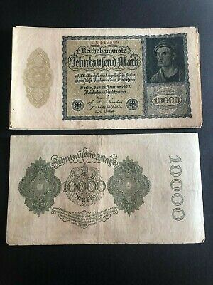 Germany 10000 mark banknotes 1922 circulated VF - EF PROMOTION POST