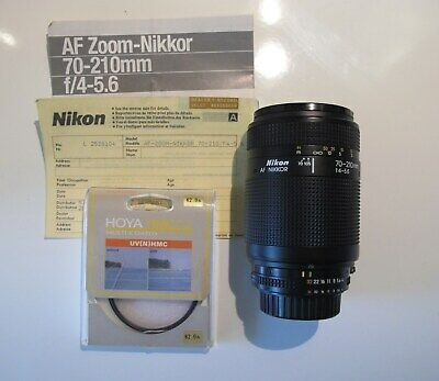 Zoom Nikon  Nikkor 70-210 mm f/4-5.6 AF macro excellent + filtre UV HOYA assorti